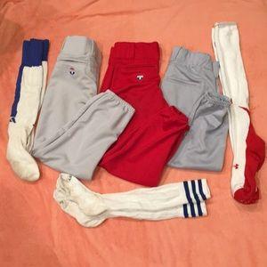Pants - 3 for 1 Softball pants and socks bundle
